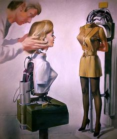 """Dedicated to all things """"geek retro:"""" the science fiction/fantasy/horror fandom of the past including pin up art, novel covers, pulp magazines, and comics. Arte Sci Fi, Sci Fi Art, Science Fiction Art, Pulp Fiction, Arte Peculiar, New Retro Wave, Arte Robot, Ex Machina, Cyberpunk Art"""