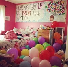 Such a cute way to ask a girl to prom except for the whole ''He was in your room while you weren`t there thing....''