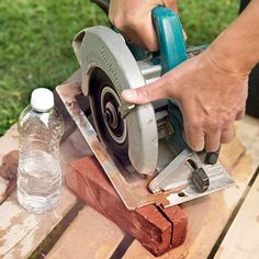 The best way to cut bricks into keystones using a circular saw plus a trick for minimizing dust