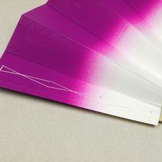 Purple Japanese fan / バイオレットのぼかし柄が雅な踊り用の舞い扇    #Kimono #Japan http://global.rakuten.com/en/store/aiyama/