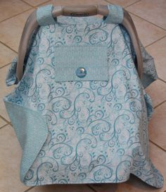 Baby Car Seat Canopy Car Seat Cover in Teal by Debsflorals on Etsy, $29.99