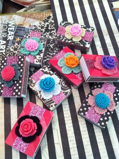 Set of 8 Flower Matchboxes  by SoVintageMe on Etsy, $12.00
