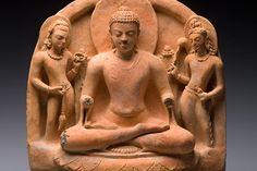 Buddha and Bodhisattvas (Gupta period; 5th–6th century), Eastern India. Christophe Hioco, Paris
