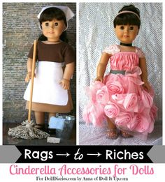 Read one of the many versions of Cinderella from around the world and make these accessories for your doll! Links included!