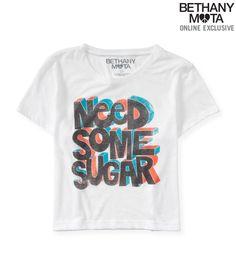 Sheer Sugar Boxy Graphic T - Aeropostale