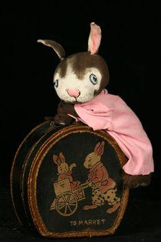 "Bunnykin  series of 14"" Bunnies by doll artist designer   Jan Shackelford   www.janshackelforddolls.com"