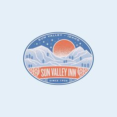002 - Sun Valley Inn - Idaho, US  #graphicdesign #365 #label #sticker #design #winter #branding #illustration #iconography #vector #dribbble #vintage #typography #snow #mountain #designchallenge #luggagelabelchallenge #idaho #badge