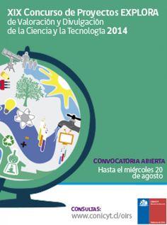 Este martes se abren postulaciones a concurso de Proyectos EXPLORA 2014  http://www.explora.cl/noticias-nacionales/1651-este-martes-se-abren-postulaciones-a-concurso-de-proyectos-explora-2014