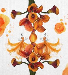 Anniversary Illustration by JSK Curated.Works: The Orange Dot Project – JSK