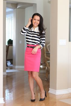 StylishPetite.com | Review: Ann Taylor Stripes and Cashmere