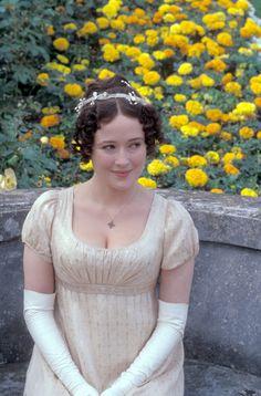 Jennifer Ehle as Elizabeth Bennet in Pride and Prejudice Jane Austen. Jennifer Ehle, Bbc, Elizabeth Bennett, Jane Austen Movies, Jenifer, The Frankenstein, Regency Dress, Regency Era, Period Outfit
