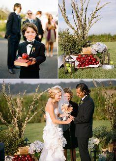 Back to school themed wedding