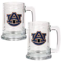 Set of 2 University Glass NCAA Unisex Collegiate 15 oz Colonial Tankard