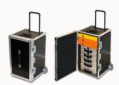AGATA Flightcases / ACTA-BOX - Mobilny kufer na akta, skoroszyty, dokumenty Portable Workbench, Road Cases, Audio Rack, Wooden Tool Boxes, Server Rack, Cool Bookshelves, Van Design, Steamer Trunk, Studio Setup