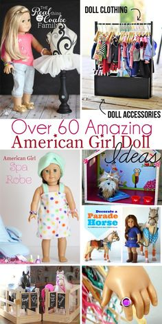 Love these! There are over 60 American Girl Doll Crafts and Ideas! Things like crafts, sewing, diy ideas and organization for all the stuff. #AmericanGirlDoll #AGDoll #Crafts #AGDollCrafts #Sewing #Pattern #DIY