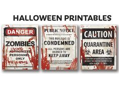 Get all 3 of our frightening Halloween printable signs and decorate your front door! ♛ THE CROWN PRINTS ♛ Thank you for your interest in this