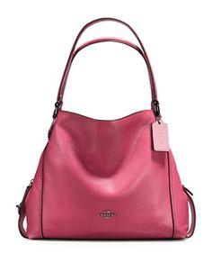 81a286de52f COACH Coach Edie Pebbled Leather Shoulder Bag.  coach  bags  shoulder bags