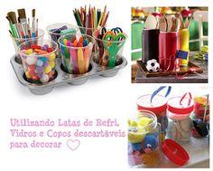 praticidade queroo1 Ideias de organização e decoração com reciclagem   Dicas e fotos