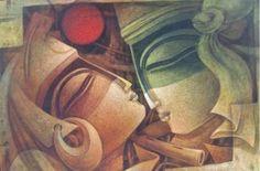 Nityam Singha Roy Krishna Art, Lord Krishna, Shiva, India Art, Fantasy Images, Cubism, Modern Art, Inspiring Art, Abstract