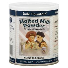 Soda Fountain Malted Milk Powder 16 oz  Pack of 6 -- Read more  at the image link. (This is an Amazon affiliate link and I receive a commission for the sales and I receive a commission for the sales)