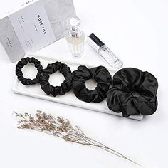 Details about  /Musical notes purple black silver fabric hair scrunchie accessory scrunchies tie
