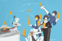 Sonic, Zapp, Leo, Chain and Steven Kobayashi San Chi No Maid Dragon, Best Anime Shows, Blood Blockade Battlefront, Samurai Champloo, Gekkan Shoujo Nozaki Kun, Devilman Crybaby, Skullgirls, Noragami, Manga