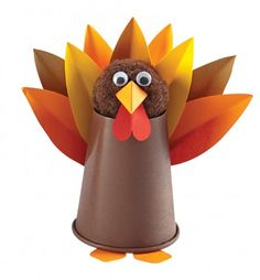 Super easy tabletop turkey craft