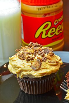 Oh yes we did. This Reese Peanut Butter Cupcakes Recipe is AMAZING.