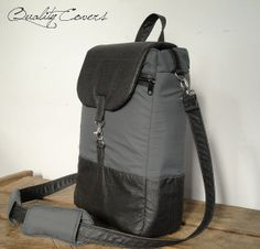 Customizable Convertible Backpack / laptop Compartment / removable shoulder PADS - Cross body Messenger / can be  any color / size