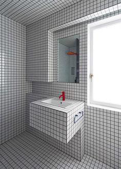 Cheap Home Decor .Cheap Home Decor Modern Bathroom Tile, Modern Bathtub, Small Bathtub, Bathroom Floor Tiles, Bathroom Interior Design, Small Bathroom, Shower Tiles, Tile Floor, Red Bathrooms
