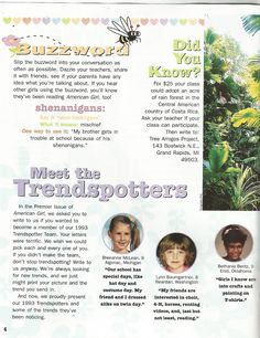 American Girl Magazine - January 1993/February 1993 Issue - Page 5 (Girls Express - Part 2)