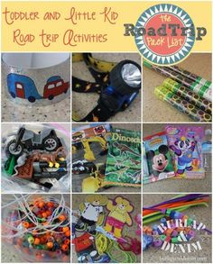 The Road Trip Pack List from Burlap & Denim plus activities for kids