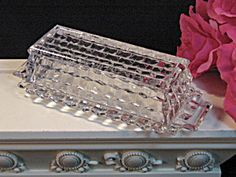 Fostoria Glass American Crystal Butter Dish