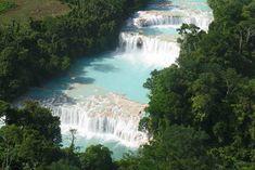 #Cascadas de Agua Azul #Mexico www.inmexico.net