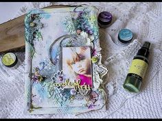 Mixed Media Photo Frame // Микс-медиа фоторамка. Мастер-класс. - YouTube Mixed Media Canvas, Mixed Media Art, Mix Media, Mixed Media Scrapbooking, Book Cover Art, Art Blog, Canvas Art, Projects To Try, Paper Crafts