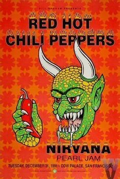 This must have been the best concert ever! Red Hot Chili Peppers, Nirvana, and Pearl Jam
