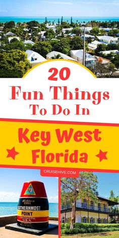 Check all these fun things to do in Key West Florida while on a cruise vacation. Weve got cruise tips to make sure you have the best time at this Florida destination. - Travel Miami - Ideas of Travel in Miami Best Cruise, Cruise Tips, Cruise Travel, New Travel, Travel Usa, Winter Travel, Visit Florida, Florida Vacation, Florida Travel