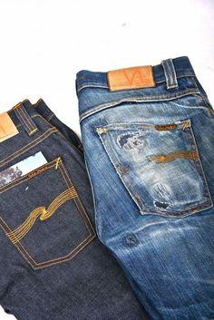 Die schwedische Jeansmarke Nudie Jeans hat hochwertige Jeans-Klassiker als Unisex-Modell zu bieten. Sie sehen Jeans als einen lebenslangen Begleiter, der sich immer mehr an einen selbst anpasst und wie zu einer zweiten Haut werden kann. Je länger du deine Jeans also trägst, desto mehr Passgenauigkeit, Charakter und Attitüde erhält sie! Nudie Jeans, Lässigen Jeans, Raw Denim, Vintage Jeans, Beste Jeans, Edwin Jeans, Mens Casual Jeans, Japanese Denim, Fancy