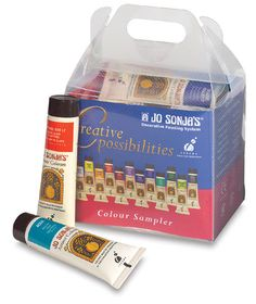 Jo Sonja's Artist Acrylic Creative Possibilities Sampler, Set of 12 - Tubes Macaroni Art, How To Make Water, Art Shed, Acrylic Paint Set, Paint Party, Colours, Creative, Painting, Flow