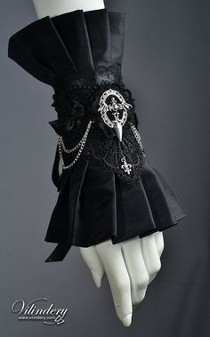 Goth Victorian Cuff Bracelet, Lolita Vampire Style, Dark Fashion, Elegant Goth Wedding Jewelry, Accessories http://www.etsy.com/shop/Vilindery