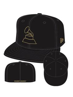 Wear your love for Grammys in style with the Grammy Gramophone Hat!  The hat features the gold gramophone logo on a black cap.