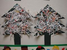 """Oh the many ways to make Christmas trees in preschool"" 