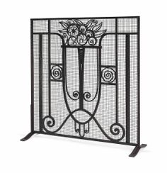 A FRENCH ART DECO WROUGHT-IRON FIRESCREEN -  CIRCA 1930