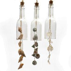 botellas originales con caracolas de mar ideal para decoracin de bodas en la playa