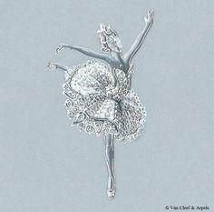 "Van Cleef and Arpels illustration of brooch""Odette"". Van Cleef Arpels, Van Cleef And Arpels Jewelry, High Jewelry, Jewelry Art, Vintage Jewelry, Bijoux Design, Schmuck Design, Jewelry Design Drawing, Jewellery Sketches"