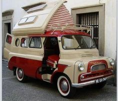 I love these, more room than a VW camper but they have a tiny engine!!