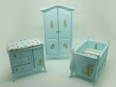 Miniature dollhouse furniture baby room by viliaminiature on Etsy