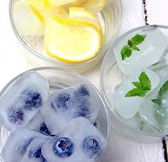 Freeze something fun into your ice cubes. | 60  Things You Absolutely Have To Do This Summer