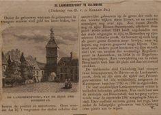 1870-Krant artikel Lanksmeer poort Culemborg