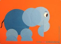 easy origami elephant – How to make Preschool Arts And Crafts, Preschool Colors, Creative Arts And Crafts, Paper Crafts For Kids, Elephant Crafts, Origami Elephant, Paper Folding Art, Circle Crafts, Shape Crafts